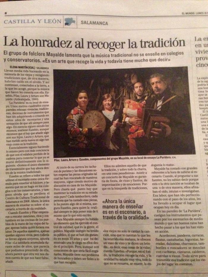 Mayalde posan en La Paridera