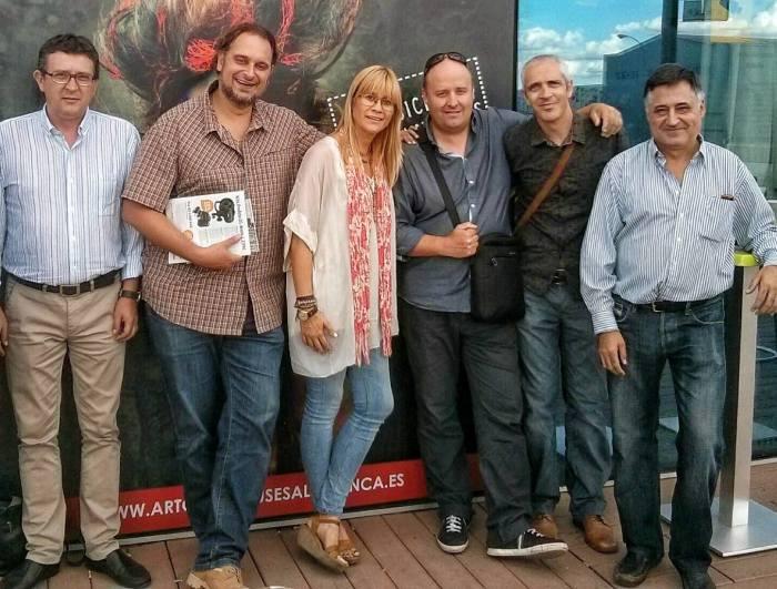 Con Gervasio Sánchez y fotoperiodistas salmantinos