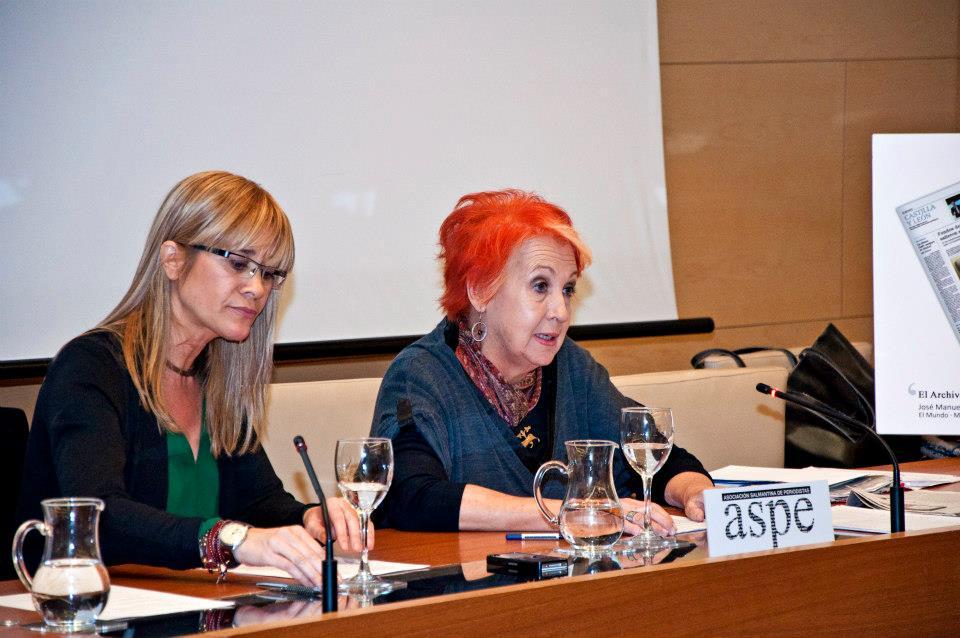 Con Rosa María Calaf