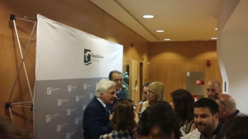 Roberto Canessa minutos antes de la conferencia